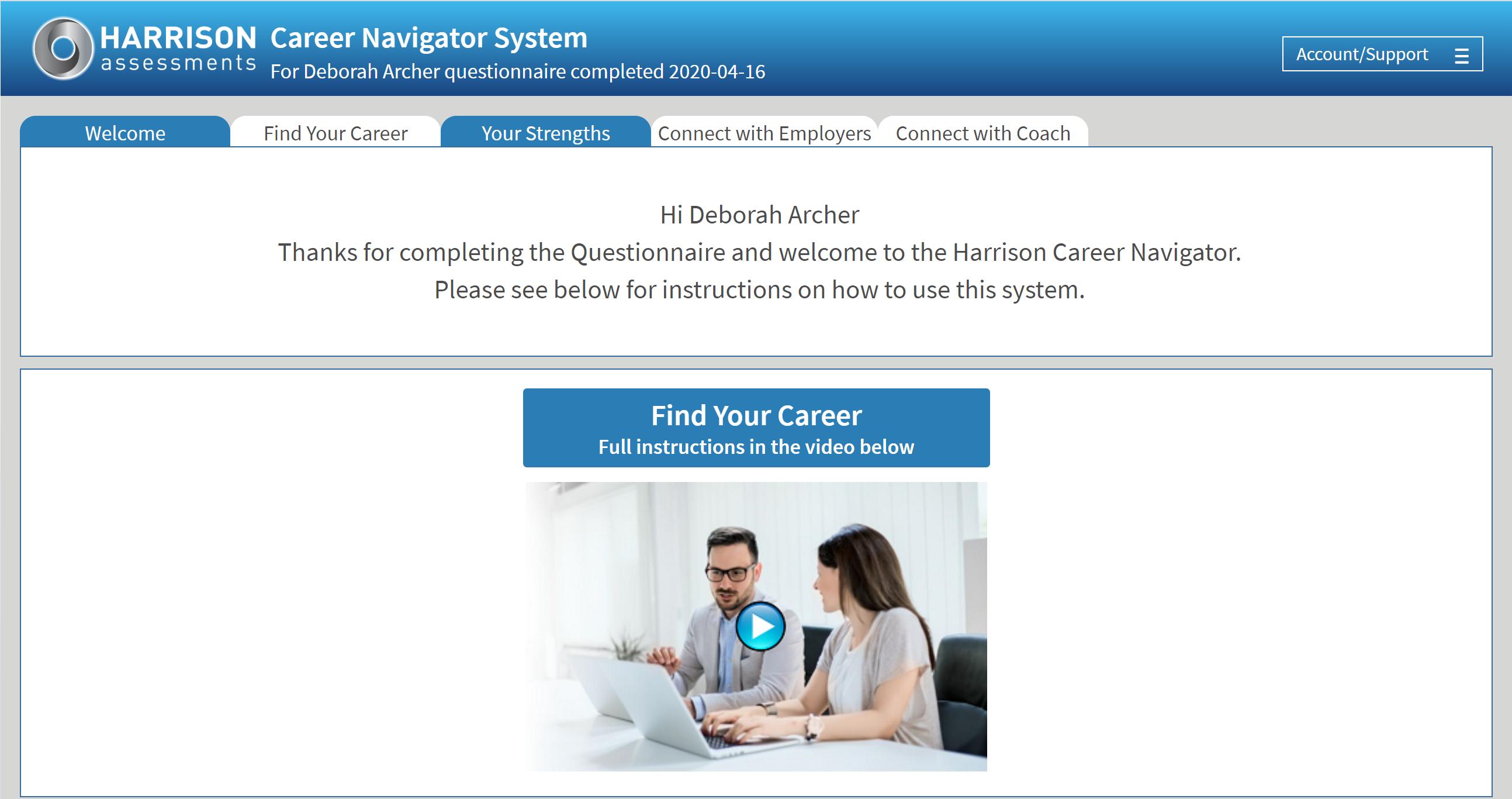 Online Interactive Career Portal