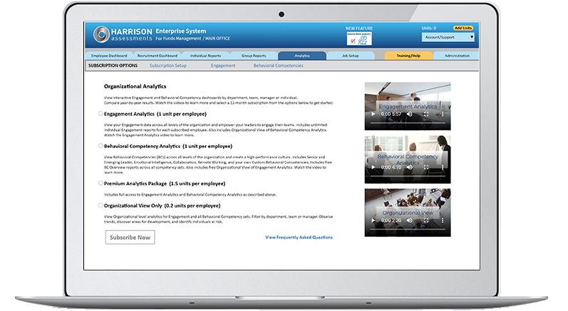 organizational analytics - subscription options